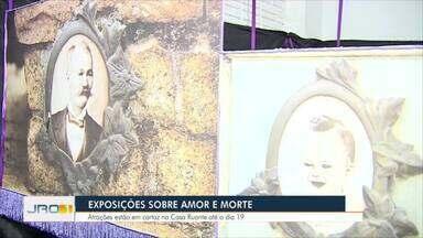 Exposições sobre Amor e Morte - Atrações estão em cartaz na Casa Ruante até o dia 19.