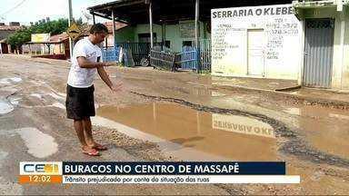 Moradores reclamam dos buracos no centro de Massapê - Confira outras notícias no g1.com.br.ce