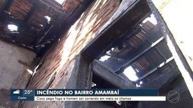 Casa é destruída por incêndio em Campo Grande - Casa é destruída por incêndio em Campo Grande