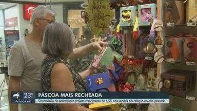 Sincomércio de Araraquara projeta crescimento de 6,5% nas vendas de Páscoa deste ano - Comerciantes apostam em estratégias para atrair consumidores.
