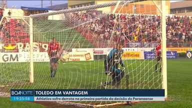 Athletico perde a primeira partida da final do Campeonato Paranaense - Jogo de volta acontece no próximo domingo.