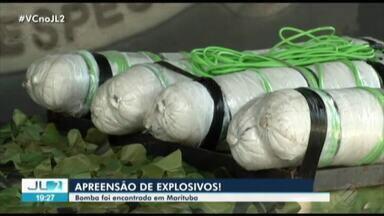 Polícia encontra bomba com mais de 20 quilos de explosivos em Belém - O artifício foi encontrado enquanto buscas foram feitas na região metropolitana de Belém.