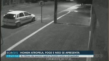 Homem que atropelou duas mulheres ainda não se apresentou à polícia - Acidente foi em Santa Terezinha de Itaipu.