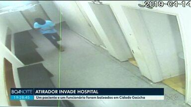 Bandido invade hospital atrás de paciente - Ele efetuou 20 disparos em quarto