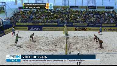 JPB2JP: Saiba os vencedores da etapa pessoense do Circuito Brasileiro de Vôlei de Praia - Na Orla do Cabo Branco.