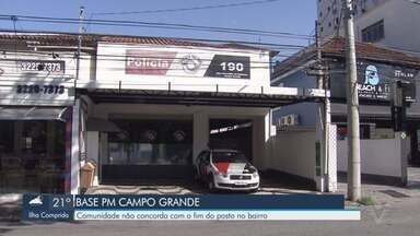 Moradores se reúnem com policiais para falarem sobre a desativação de base em Santos - A base do Canal 2 foi desativada e, em breve, a do Canal 1 também passará por mudanças.