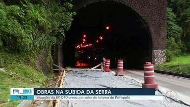 Situação da BR-040 preocupa setor de turismo de Petrópolis, no RJ - Assista a seguir.
