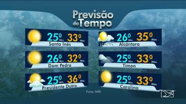 Veja a previsão do tempo no Maranhão - Confira a previsão da meteorologia nesta quarta-feira (17) em São Luís e também no interior do estado.