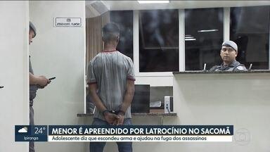 Adolescente é apreendido suspeito de participar de latrocínio de idoso no Sacomã - Ele disse que escondeu a arma e ajudou na fuga dos assassinos.