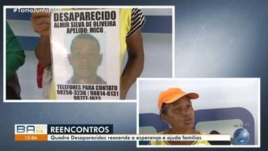 Reencontros e buscas por parentes: veja o quadro 'Desaparecidos' desta quarta-feira (17) - Quem tiver informações deve ligar para a Polícia Civil no telefone (71) 3116-0357.