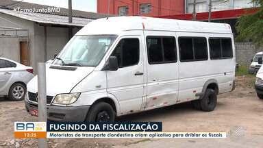 Motoristas do transporte clandestino criam aplicativo para enganar fiscais - O caso acontece na cidade de Feira de Santana que apreendeu neste ano mais de 270 carros irregulares.