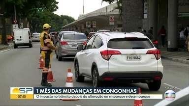Mudanças no trânsito de Congonhas completam 1 mês - Trânsito no entorno do aeroporto ainda é impactado