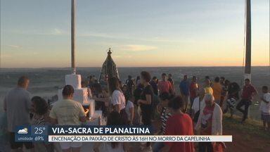 Morro da Capelinha, em Planaltina, recebe fiéis para a Paixão de Cristo - A encenação nesta sexta-feira (19) começa às 16h.