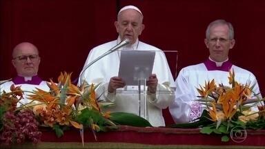 Papa Francisco condena ataques a igrejas no Sri Lanka - No Vaticano, o Papa Francisco condenou os ataques no Sri Lanka e também pediu paz para várias regiões que vivem conflitos violentos.