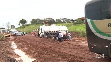 Chuvas pioram infraestrutura de rodovia que liga o Pará com o Maranhão - Entre Santa Inês e a divisa com o estado do Pará estão alguns dos trechos mais críticos.