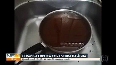Compesa explica motivo da água escura nas torneiras de casas do Grande Recife - Representante do órgão garante que água não está contaminada.