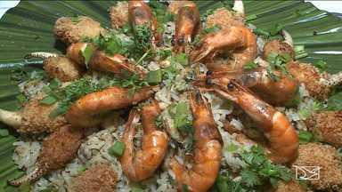 Aprenda a fazer o 'arroz ômega' no quadro Fica a Dica - O arroz traz na receita vários ingredientes fartos no litoral maranhense, ricos em vitaminas e minerais.