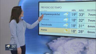 Veja como fica o tempo nesta terça-feira na região - Há previsão de calor com chance de chuva.