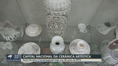 EPTV 40 Anos: Porto Ferreira é a capital nacional da cerâmica - Um dos pontos mais tradicionais da cidade é a Ponte Metálica construída em 1913.