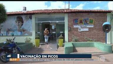 Picos espera atingir meta de 100 mil pessoas em campanha de vacinação - Picos espera atingir meta de 100 mil pessoas em campanha de vacinação