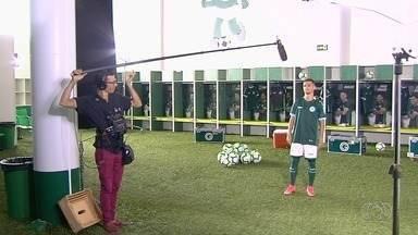"""Elenco do Goiás passa pelo """"media day"""" do Brasileirão - Jogadores se preparam para a disputa da Série A"""