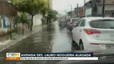 Desembargador Lauro Nogueira fica alagada - Confira outras notícias no g1.com.br/ce