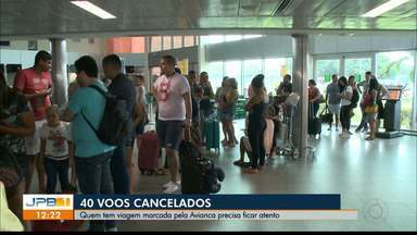 Empresa cancela 40 voos na Paraíba - Quem vai viajar pela Avianca precisa remarcar voos ou pedir reembolso.