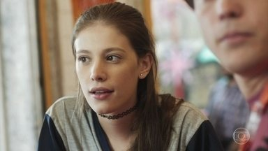 Anjinha arma para se encontrar novamente com Cleber - Jaqueline, Raíssa e Anjinha se encontram na lanchonete e as três conversam com Thiago sobre o episódio da van