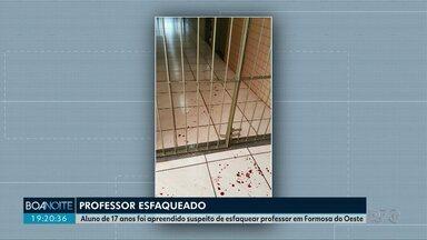 Adolescente esfaqueia professor dentro da sala em Formosa do Oeste - O homem de 50 anos foi socorrido e levado para Cascavel.