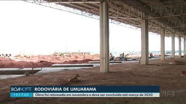 Obra de rodoviária de Umuarama deve ser concluída até março de 2020 - As obras começaram em 2014 e foram retomadas em novembro do ano passado.