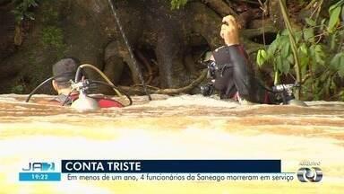 Polícia investiga morte de funcionário da Saneago como homicídio culposo por negligência - Vítima pulou de canoa quando ela começou a ser puxada pela correnteza do Rio Meia Ponte e acabou afogado. Saneago disse que só vai se pronunciar após o fim das investigações.