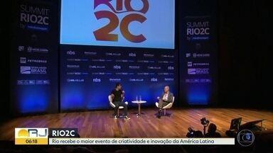 Rio recebe até domingo maior evento de criatividade e inovação da América Latina - Rio2C acontece na Cidade das Artes, na Barra.