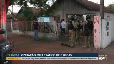 Forças de segurança estão nas ruas de Maringa - Eles cumprem mandados de prisão e busca e apreensão.