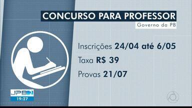 JPB2JP: Publicado o edital do concurso para professor da Paraíba - São ofertadas 1.000 vagas, e inscrições começam amanhã.