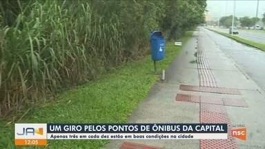 Levantamento da Prefeitura de Florianópolis mostra situação precária dos pontos de ônibus - Levantamento da Prefeitura de Florianópolis mostra situação precária dos pontos de ônibus