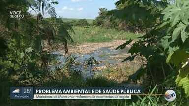 Moradores de Monte Mor reclamam de vazamentos de esgoto - Situação preocupa moradores do município, que temem contaminação.