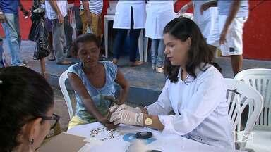 Ação de recuperação de dependentes químicos é realizada em centro de São Luís - Além de oferecer tratamento para recuperação da dependência, as equipes também fizeram exames e outros serviços de saúde.