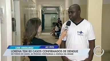Lorena tem 80 casos de dengue - Cidade tinha 66 casos até semana passada.