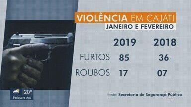 Moradores de Cajati se queixam do aumento do número de roubos na cidade - Eles afirmam que desde o começo do ano sofrem com a quantidade de roubos e furtos.