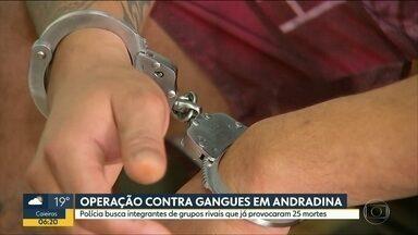 Polícia prende integrantes de gangues em Andradina - Briga de facções começou há 12 anos e já matou 25 pessoas.