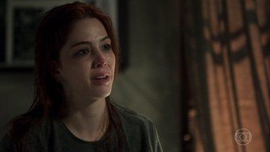Bruno confessa a Valéria que não a ama mais - Valéria pede desculpas por ter falado com o pai do fotógrafo às escondidas e implora para reatar o namoro