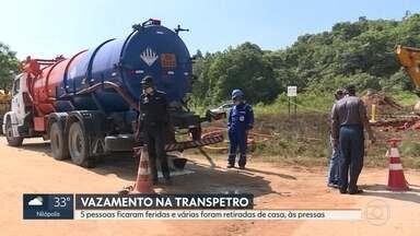 Vazamento na Transpetro deixa 5 pessoas feridas em Caxias - Menina de 9 anos caiu em poça de gasolina e está internada em estado grave.