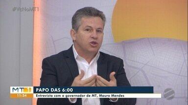 Mauro Mendes fala sobre ações do governo - Mauro Mendes fala sobre ações do governo.