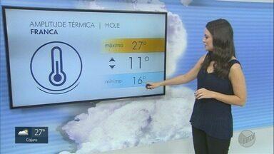 Veja a previsão do tempo neste sábado (27) na região de Ribeirão Preto, SP - Fim de semana deve ser ensolarado na maioria das cidades.