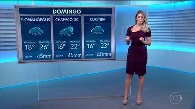 Previsão do tempo para domingo (28) - Jacqueline Brazil traz os alertas, para o último fim de semana de abril.