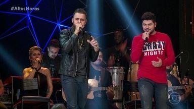 """Zé Neto e Cristiano cantam """"Notificação Preferida"""" - Dupla agita a plateia do 'Altas Horas' com grande sucesso"""