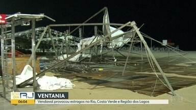 Vendaval no Rio - Chuva e ventania provocaram estragos no Rio, na Costa Verde, na Região dos Lagos e na Região Serrana.