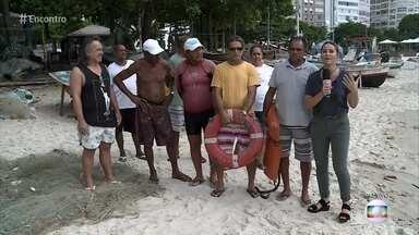 Pescadores revelam como enfrentam tempestades no mar - Juliana Sana conversa com pescadores cariocas sobre o que fazer em caso de ventos e chuvas