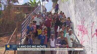 MG Móvel comemora 1 ano e já passou por mais de 30 cidades - Em 12 meses, mesmo diante de municípios enfrentando dificuldades financeiras, os moradores puderam cantar vitória. Doze obras foram entregues.