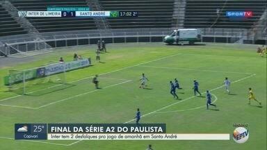 Inter de Limeira tem dois desfalques para a decisão desta quarta-feira - Time enfrenta o Santo André em busca do título da Série A-2.
